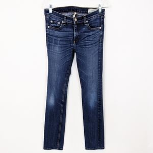 Rag & Bone Cigarette Straight Low Rise Jeans 28